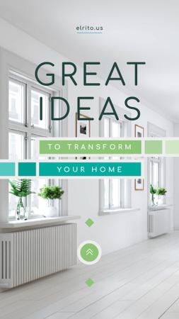 Modern Home Kitchen Interior in White Instagram Video Story Modelo de Design