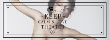 Theater Quote Woman Performing in White | Facebook Cover Template