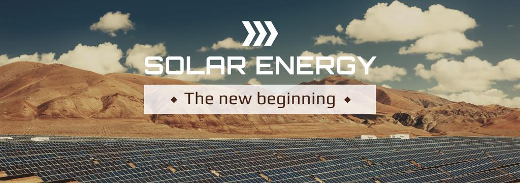 Energy Supply Solar Panels in Rows | Tumblr Banner Template — Створити дизайн