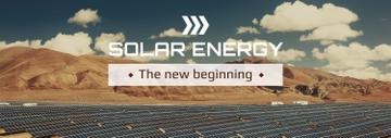 Energy Supply Solar Panels in Rows | Tumblr Banner Template