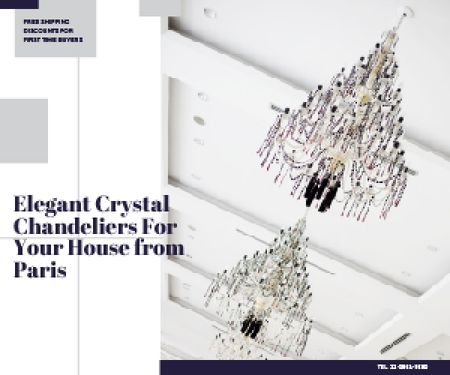 Plantilla de diseño de Elegant crystal chandeliers from Paris Medium Rectangle