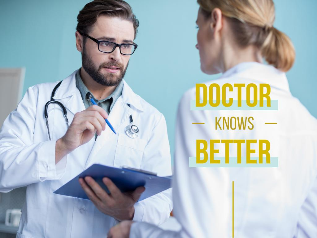 Doctor knows better banner — Crear un diseño