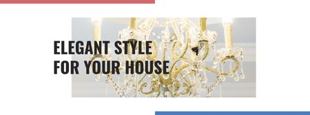 Elegant crystal Chandelier offer Facebook cover – шаблон для дизайну