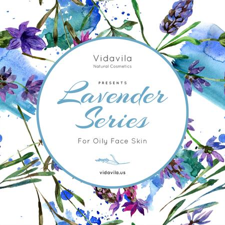 Natural Cosmetics Offer with Lavender drawings Instagram – шаблон для дизайна