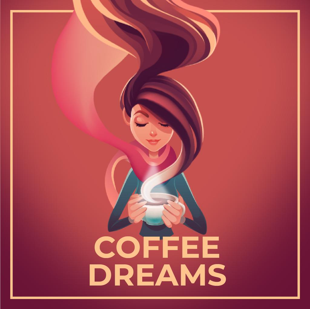Woman with Hot Cup of Coffee — Crear un diseño