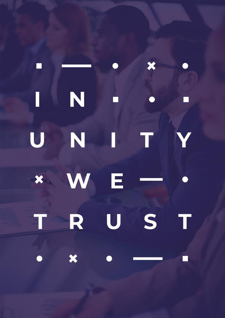 Modèle de visuel Professional Business Team at the Meeting - Poster