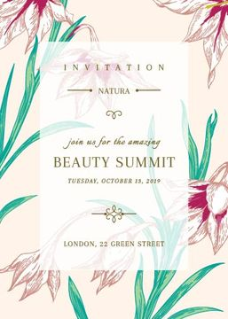 Beauty summit invitation
