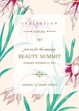 Beauty Summit Invitation Tender Flowers