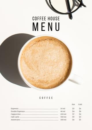 Modèle de visuel Coffee House offer - Menu