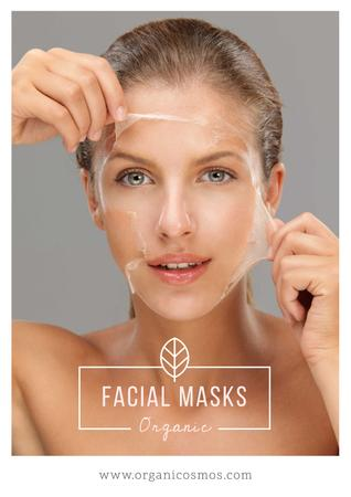 Plantilla de diseño de Organic facial masks advertisement Poster