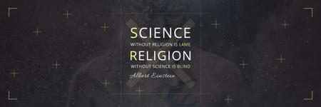 Citation about science and religion Twitter Modelo de Design