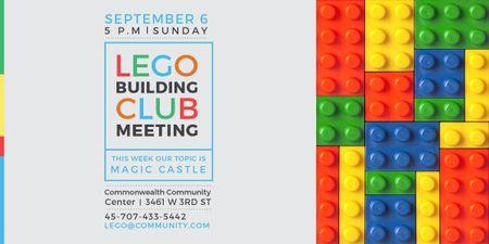 Plantilla de diseño de Lego Building Club meeting Constructor Bricks Image