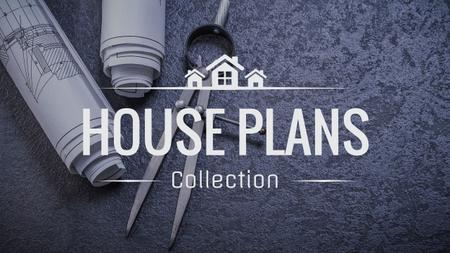 House plans collection with blueprints Youtubeデザインテンプレート