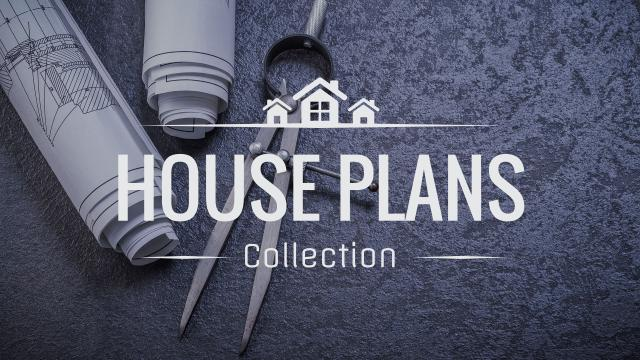 Modèle de visuel House plans collection with blueprints - Youtube