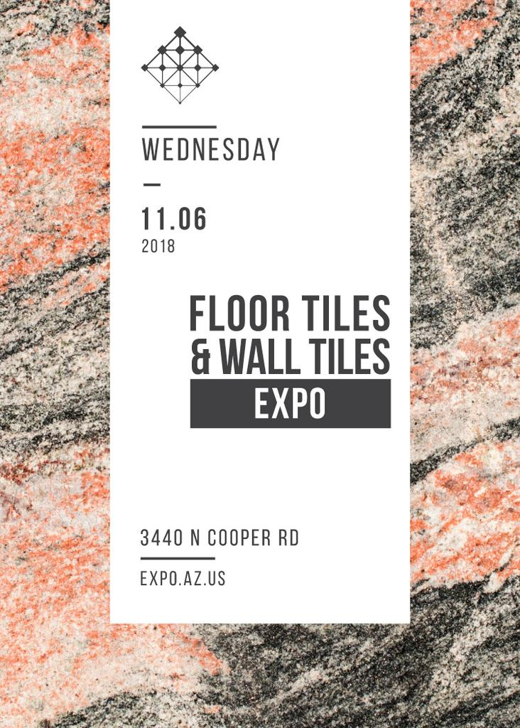 Tiles ad on Marble Light Texture — Maak een ontwerp