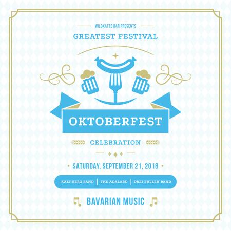 Traditional Oktoberfest treat for festival invitation Instagram AD Modelo de Design