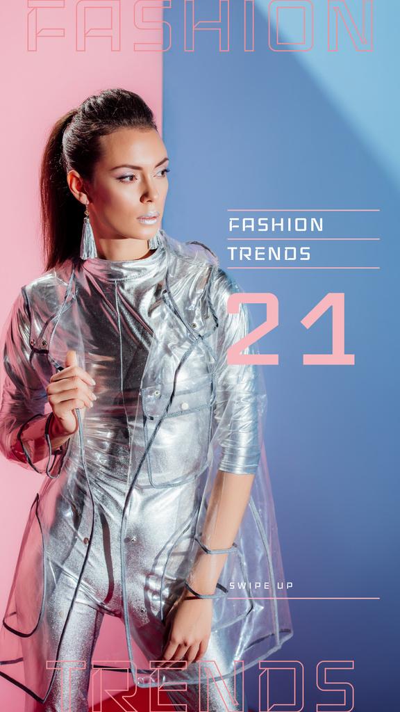 Stylish Girl wearing silver clothes — ein Design erstellen