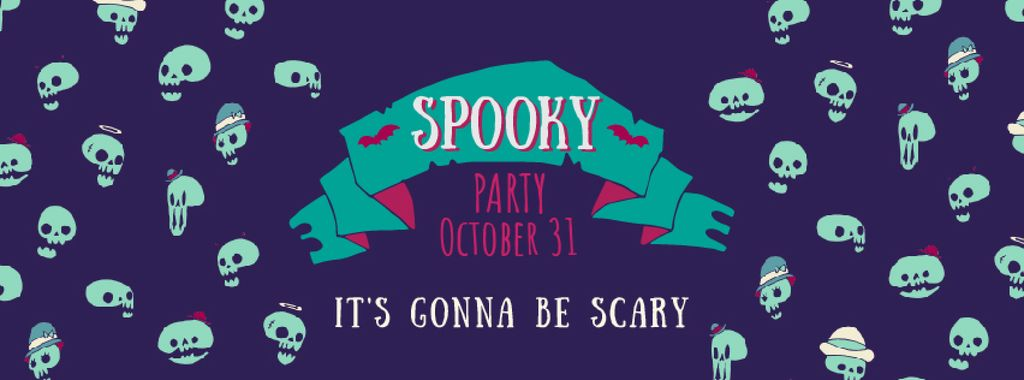 Spooky Halloween skulls — Створити дизайн