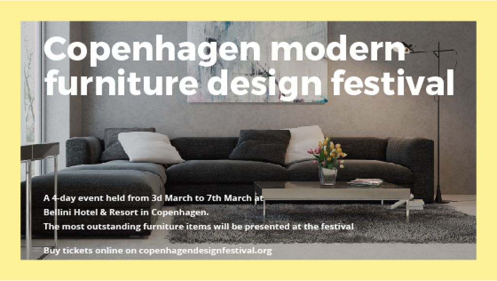 Copenhagen modern furniture design festival — Créer un visuel