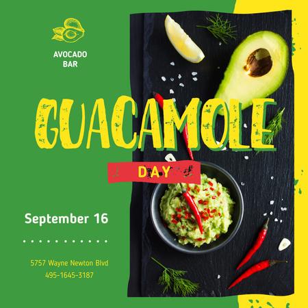Mexican guacamole dish Instagram Design Template