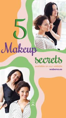Modèle de visuel Makeup artist by smiling client - Instagram Story