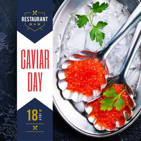 Plantilla de diseño de Delicious Salmon Caviar Instagram