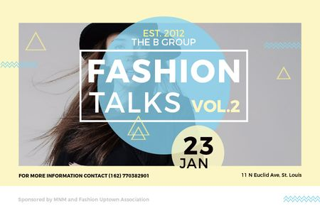 Fashion talks Annoucement Gift Certificateデザインテンプレート