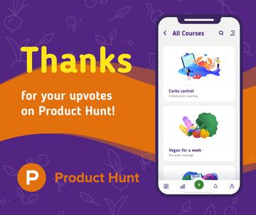 Product Hunt Online Courses Page on Screen | Facebook Post Template