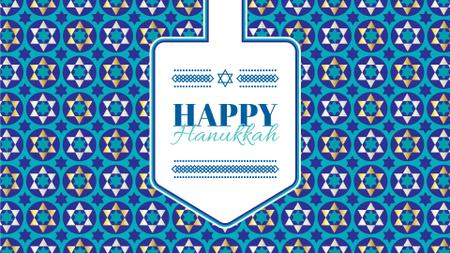 Plantilla de diseño de Happy Hanukkah greeting Full HD video