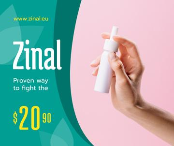 Medication Ad Woman Holding Spray Bottle