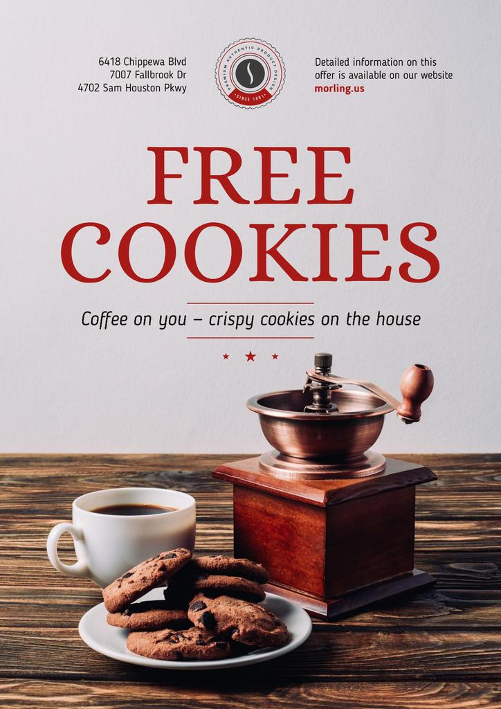 Coffee Shop Promotion with Coffee and Cookies — Modelo de projeto