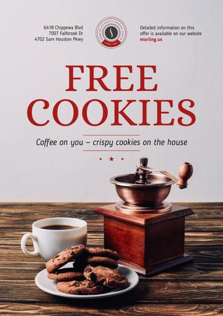 Coffee Shop Promotion with Coffee and Cookies Poster – шаблон для дизайну