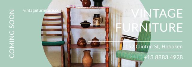 Vintage Furniture Shop Ad Antique Cupboard Tumblr Modelo de Design