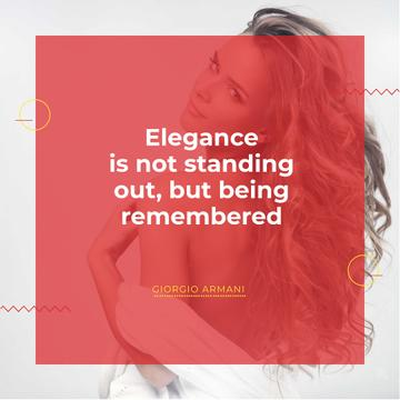 Citation about Elegance with Young Woman