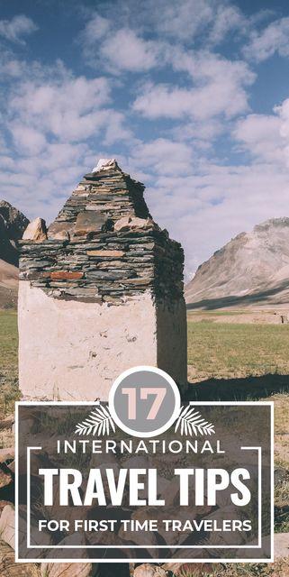 Modèle de visuel Travel Tips Stones Pillar in Mountains - Graphic