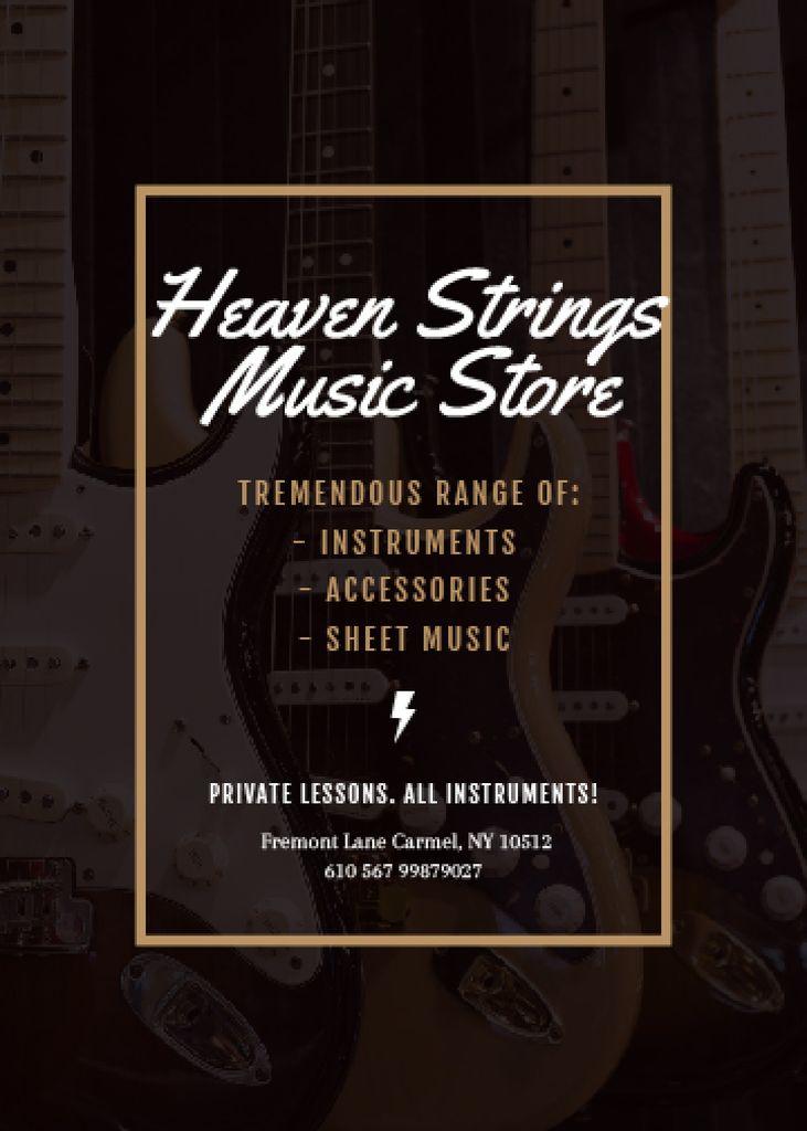 Guitars in Music Store — Modelo de projeto