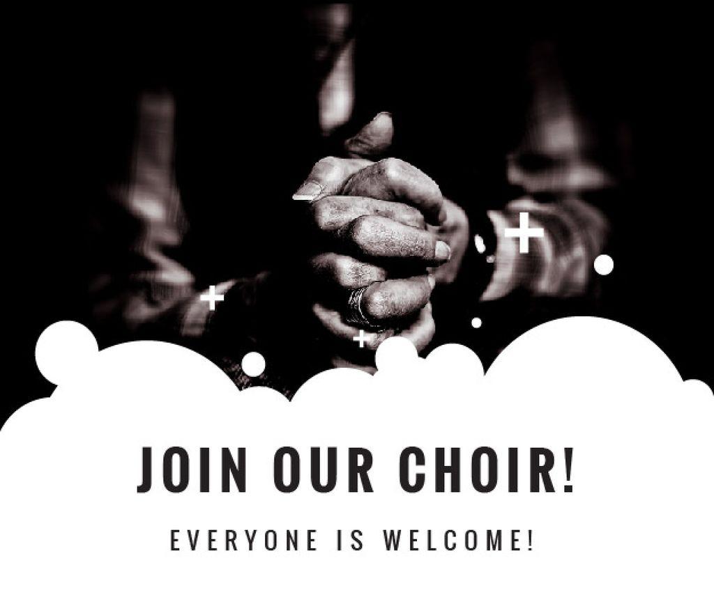 Designvorlage Invitation to a religious choir für Medium Rectangle