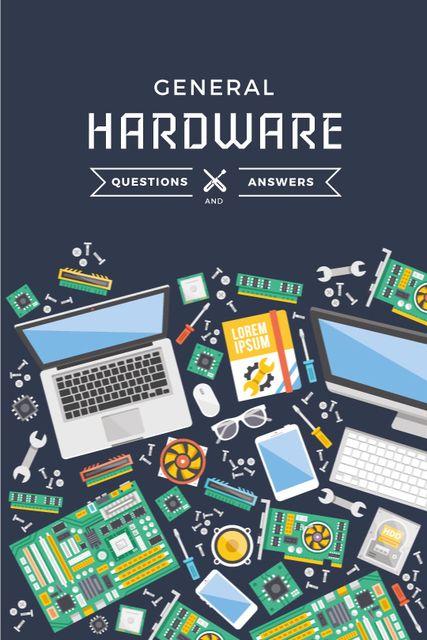 Template di design Hardware repair services with circuit board Tumblr