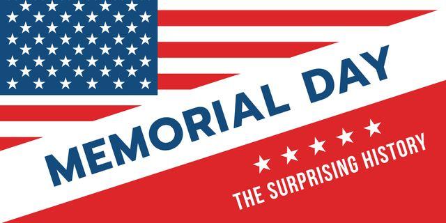 USA Memorial Day Image Design Template