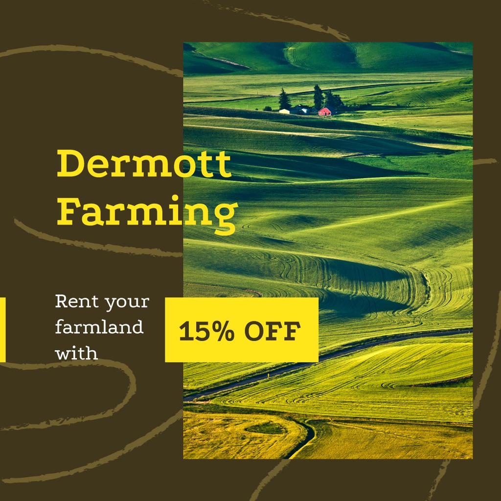 Farm Rent Offer Small Village in Country Landscape   Instagram Ad Template — Crear un diseño