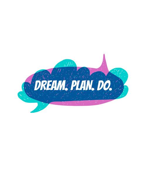 Inspiration Quote on speech bubble T-Shirt Modelo de Design