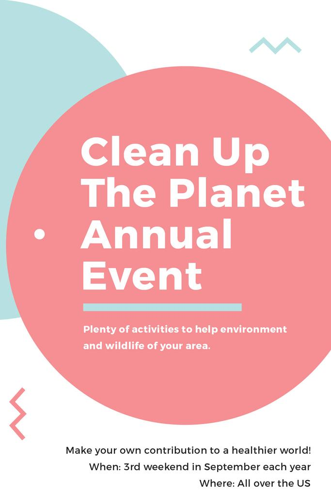 Ecological Event Announcement Simple Circles Frame | Tumblr Graphics Template — Create a Design