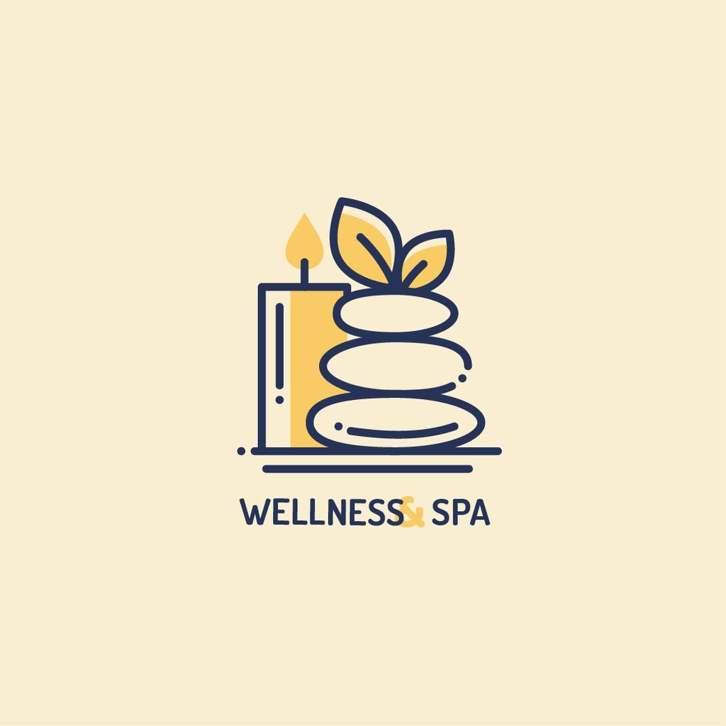 Spa Ad with Zen Stones and Candle — Створити дизайн