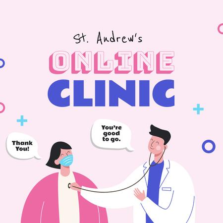 Template di design Online Clinic promotion Instagram