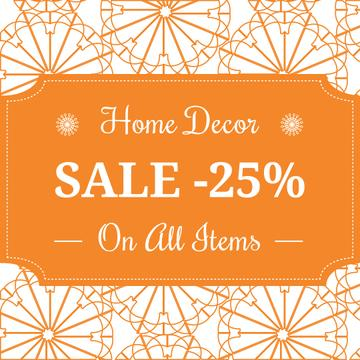 Home decor sale ad with floral texture