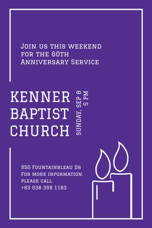 Template di design Baptist Church with Candles Pinterest