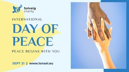 Template di design International Day of Peace People Holding Hands Title