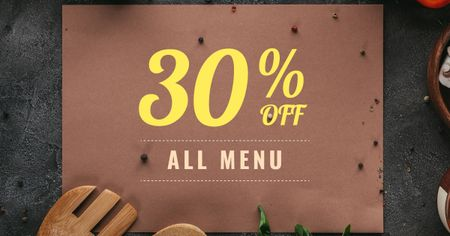 Menu Offer with Condiments Facebook AD Modelo de Design
