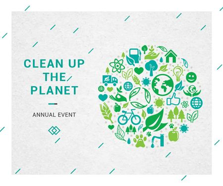 Plantilla de diseño de Clean up the Planet Annual event Large Rectangle