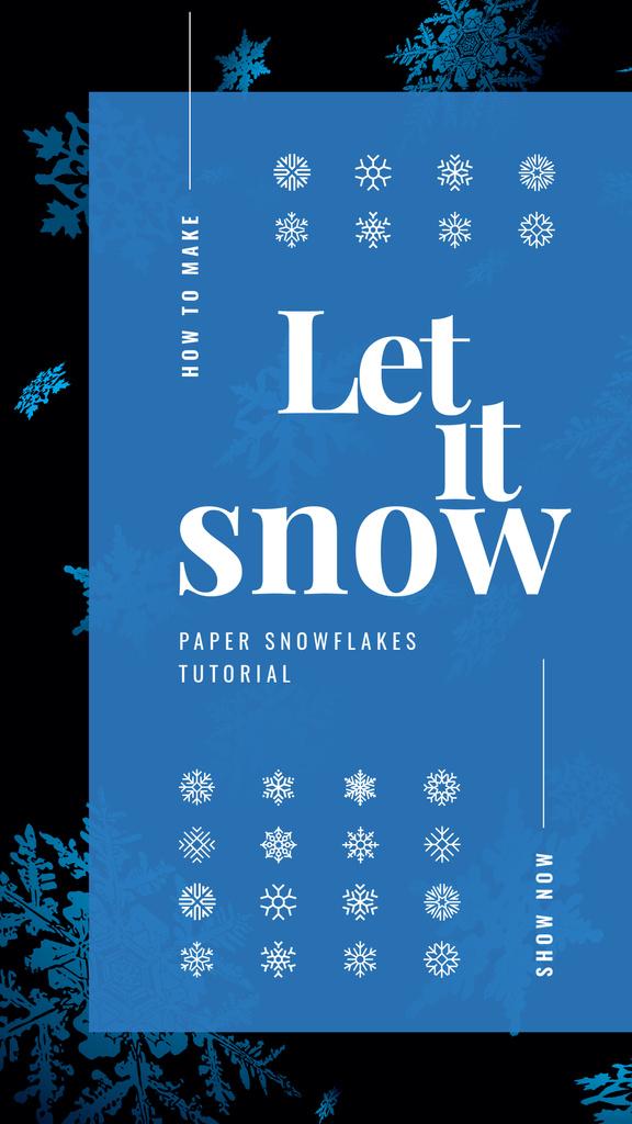 Blue snowflakes pattern — Create a Design